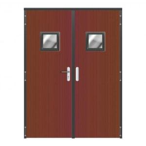 Puertas batientes cortafuegos de madera