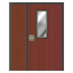 Puerta cortafuegos panelada con mirilla y fijo lateral