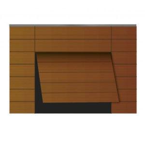 Puerta de garaje basculante madera