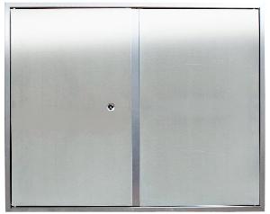 Bisagras vistas u ocultas en registros y armarios de instalaciones